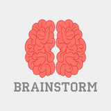 Brainstorm think idea. Logotype brain silhouette design - vector Stock Images