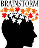 Brainstorm. Thinking hard and finding solutions Royalty Free Stock Image