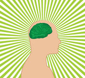 Brainstorm. Vector illustration of a man Stock Photography