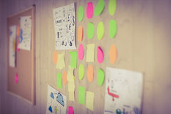 Brainstorm wall in creative office Stock Photography