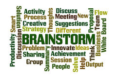 Brainstorm. Word cloud on white background Royalty Free Stock Image