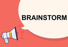 Brainstorm word with megaphone illustration graphic design Royalty Free Stock Images