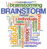 Brainstorm  word tags Stock Photo