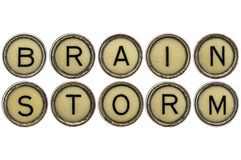 Brainstorm word in  typewriter keys Stock Image