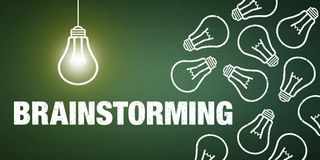 'brainstorming' εμβλημάτων στοκ εικόνα με δικαίωμα ελεύθερης χρήσης