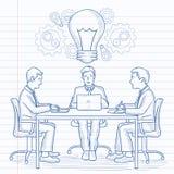 'brainstorming' επιχειρησιακών ομάδων Στοκ Φωτογραφίες