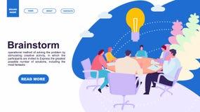 Επιχειρηματίες που συναντιούνται στο γραφείο Έννοια 'brainstorming' Προσγειωμένος πρότυπο σελίδων της οικογένειας σχέδιο ιστοσελί στοκ φωτογραφίες με δικαίωμα ελεύθερης χρήσης