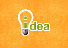 Brainstorming. Creative Thinking With Brainstorming, Idea word and bulb Stock Photo