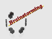 Brainstorming - 3D Royalty Free Stock Photos