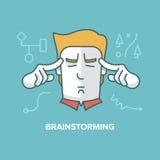 brainstorming royalty-vrije illustratie