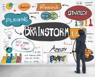 Brainstorming analizy Planistyczny udzielenie Spotyka pojęcie Obraz Stock