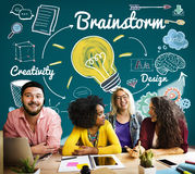 Brainstorming Analysis Planning Sharing Meeting Concept royalty free stock photos