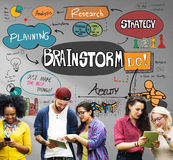 Brainstorming Analysis Planning Sharing Meeting Concept stock photo