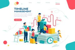 Document Brainstorming Team Analitics Analytics. Document management, team thinking, brainstorming analytics information about company. Clock always at office vector illustration