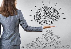 Brainstorming and analyzing Royalty Free Stock Image