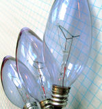 Brainstorming bulb ideas Royalty Free Stock Image