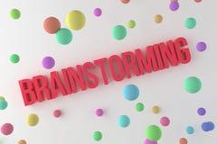 Brainstorming, business conceptual colorful 3D rendered words. Cgi, digital, artwork & illustration. Brainstorming, business conceptual colorful 3D rendered vector illustration