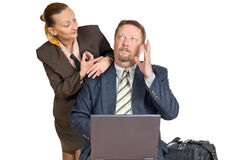 Brainstorming business couple Stock Photo