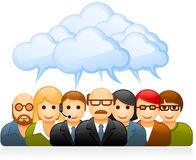 Brainstorming business team. Brainstorming group of business people stock illustration