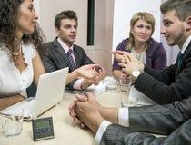 Brainstorming business team stock photo
