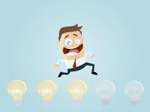 Brainstorming businessman Stock Image