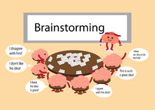 Brainstorming cartoon Stock Photo