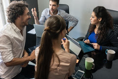 Brainstorming in creative business agency Royalty Free Stock Photo