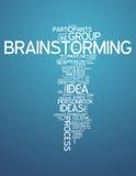 'brainstorming' della nuvola di parola Immagini Stock Libere da Diritti