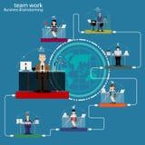 'brainstorming' di affari del lavoro di gruppo di vettore Fotografie Stock