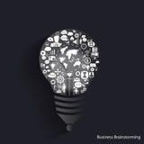 'brainstorming' di affari di vettore per le icone di affari di idea Fotografia Stock