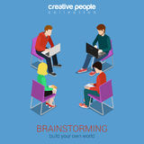 Brainstorming flat 3d web isometric infographic concept Royalty Free Stock Image