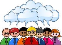 Brainstorming grupy ludzie biznesu ilustracja wektor