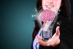 Brainstorming of idea in business Royalty Free Stock Images