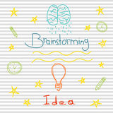 Brainstorming and idea Royalty Free Stock Images