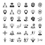 Brainstorming and Idea Development Icons - Gray Version. Perfect for use in designing and developing websites, printed materials and presentations royalty free illustration