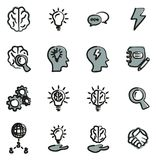 Brainstorming or Idea Icons Freehand 2 Color. This image is a vector illustration and can be scaled to any size without loss of resolution Royalty Free Stock Photography
