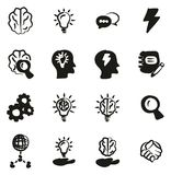 Brainstorming or Idea Icons Freehand Fill. This image is a vector illustration and can be scaled to any size without loss of resolution Royalty Free Stock Photography