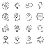 Brainstorming or Idea Icons Thin Line Vector Illustration Set. This image is a vector illustration and can be scaled to any size without loss of resolution Stock Images