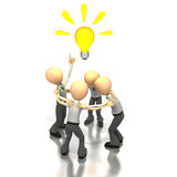 Brainstorming ideas. A group of business figures brainstorming idea royalty free illustration
