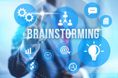 Brainstorming illustration Royalty Free Stock Images