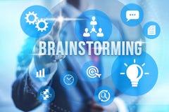 Brainstorming illustration. Brainstorming concept creative technique find conclusion stock illustration