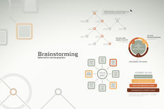 Brainstorming infographics - ideas, graphs, charts. Brainstorming infographics and ideas - graphs, charts and statistics for presentations, reports, etc royalty free illustration