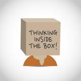 Brainstorming innerhalb des Kastens stock abbildung