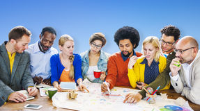 Brainstorming Meeting Communication Teamwork Concept Royalty Free Stock Image