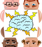 Brainstorming Men Sharing Open Minded Isolated vector illustration