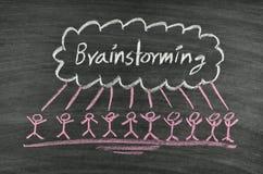 Brainstorming na blackboard Obraz Stock