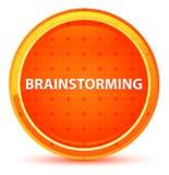 Brainstorming Natural Orange Round Button vector illustration