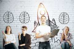 Brainstorming new ideas Royalty Free Stock Photography