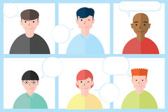 Brainstorming people. Brainstorming talk people,  illustration Royalty Free Stock Photography