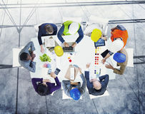Brainstorming Planning Partnership Strategy Workstation Business. Adminstratation Concept stock photography